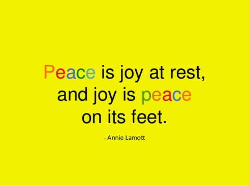 peace joy rest feet