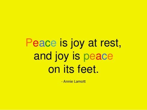 peace joy rest feet